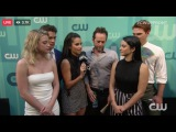 Upfronts Red Carpet with some of the Riverdale cast