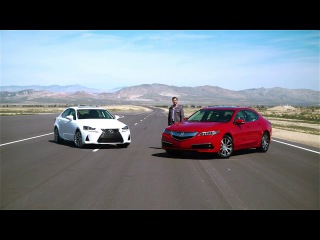 2017 Acura TLX vs 2017 Lexus IS 250  – Video Review Comparison