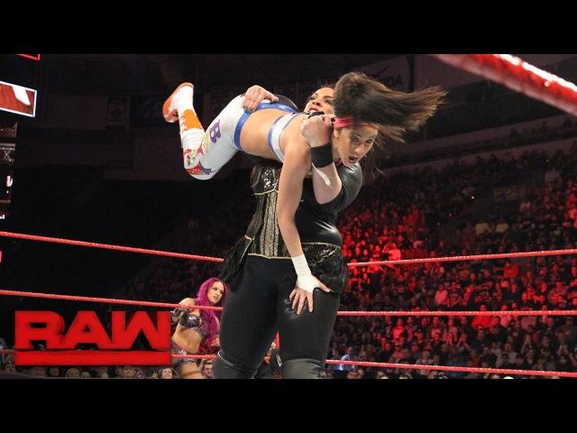 SBMKV_Video | Bayley Sasha Banks vs. Charlotte Flair Nia Jax: Raw, Feb. 27, 2017