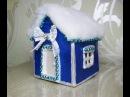 DIY Домик своими руками Папье маше Мастер класс Papier mache Camping Paper crafts
