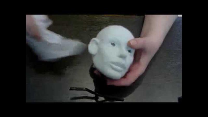 кукла из капрона и синтепона методом валяния