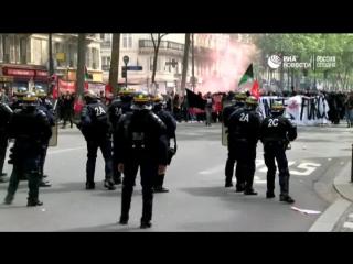 Акция протеста против кандидатов в президенты Франции