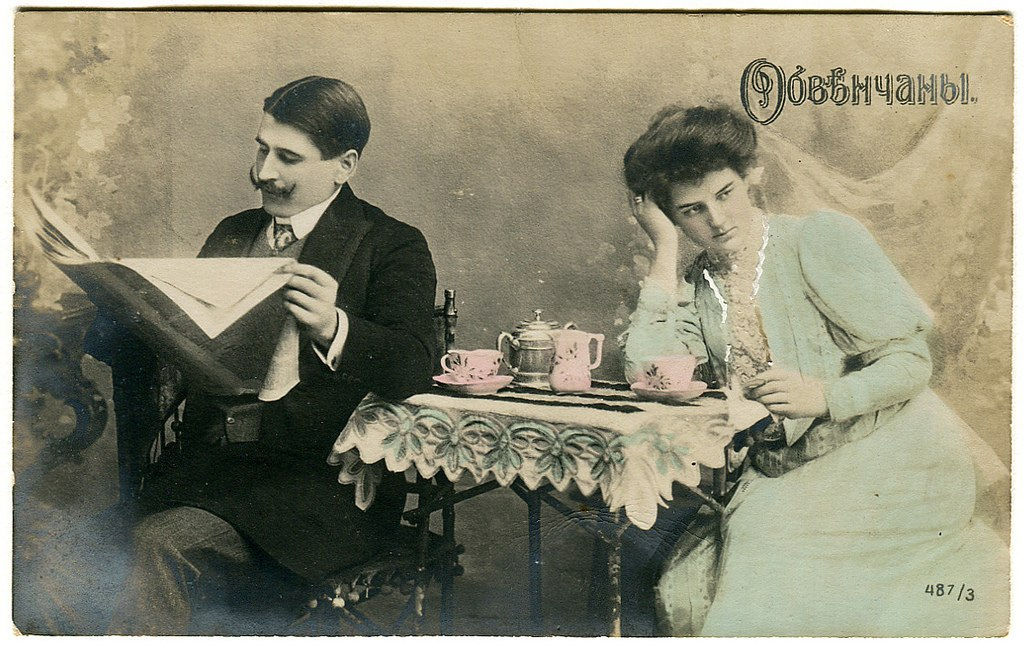 Старые открытки мужчина