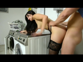 Horny girlfriend fucked on the washing machine camfuck org