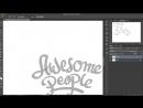 Logo lettering design speed art - tutorial -- Adobe Photoshop, Illustrator
