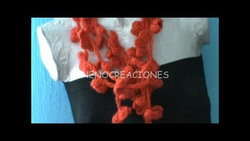 Bufanda Corazones ganchillo, Hearts Scarf tissue crochet