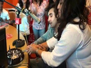 Ranbir Kapoor celebrates his birthday @ Red FM studio.