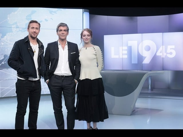 Emma and Ryan Gosling on the french tv program