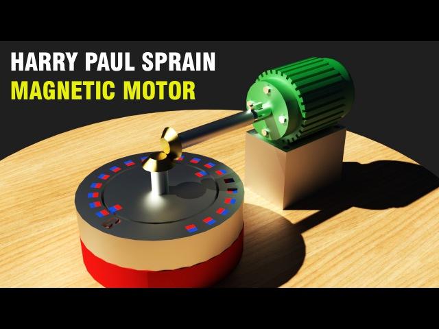 Free Energy Generator, Harry Paul Sprain Magnetic Motor!!