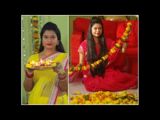 Diwali Vlog * Decors, Food, Traditional Sarees & Jewels | A Day In My Life| Sushmita's Diaries
