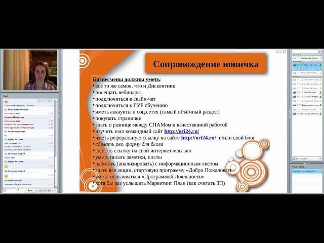 Сопровождение новичка Е. Ганюк 10 авг 2015