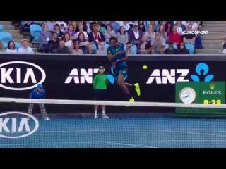 Gael Monfils Kangaroo Hot Shot - Australian Open 2017