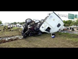 237 # Alex-Дальнобой США... Авария на ровной дороге..Жёсткое приземление...USA