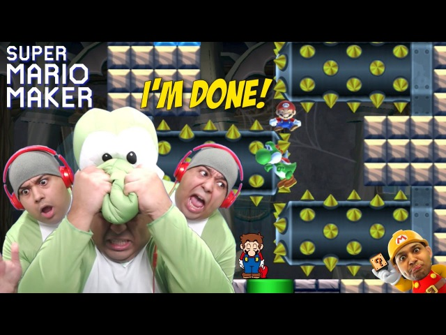 I'M SO F%KING DONE WITH THIS SHT!! [SUPER MARIO MAKER] [63]