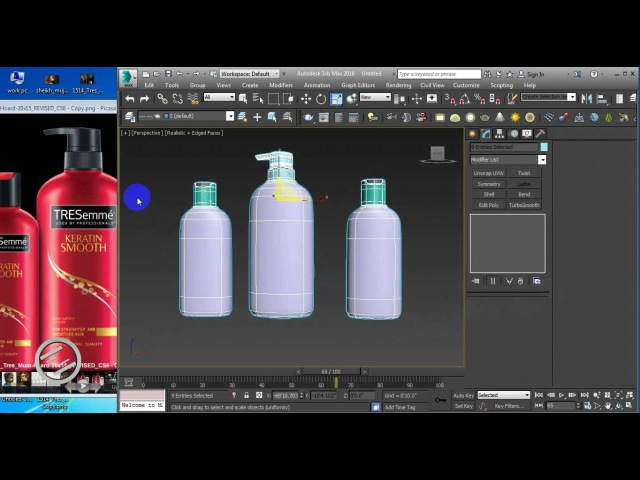 How to do 3d Product bottle modeling rendering in 3d studio max - Part 1 3d Modeling