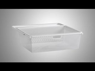 Elfa. Инструкция по установке выдвижной корзины на кронштейны.