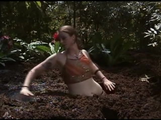Hot belly dancer quicksand