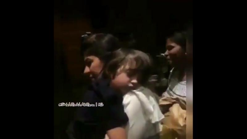 SRK and Abram in Kolkata