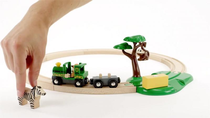BRIO Деревянная ж/д Сафари 33720 Safari Railway Set в магазине игрушек Ярик76.рф