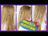 mit Garn bunt umwickelte Haarstr