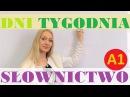 Polish for foreigners - dni tygodnia