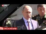 Генерал сломал ручку двери военного УАЗа Патриота на глазах у Путина