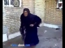Funny arabic old woman dance