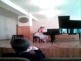 В. А. Моцарт. Соната №16 до мажор, 1 ч.