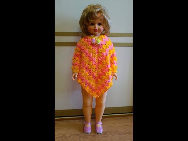 Пончо крючком Вязание пончо Красивый узор крючком Ч 1 Poncho Crochet P 1 смотреть онлайн без регистрации