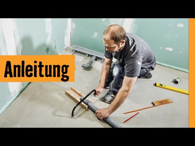 Bodengleiche Dusche einbauen Linienentwässerung | HORNBACH Meisterschmiede