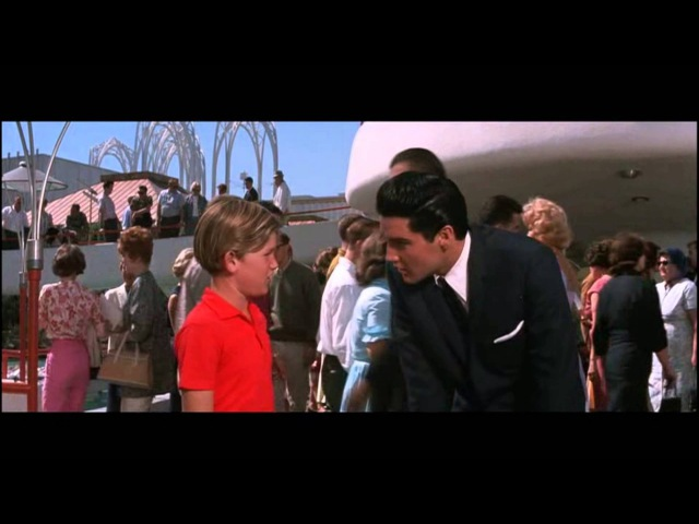Kurt Russell Kicks Elvis Presley [From the MGM film It Happened At The World`s Fair] 1963