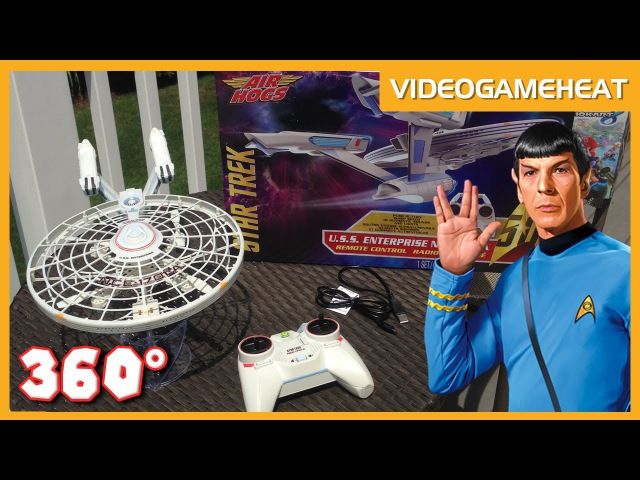 Airhogs STAR TREK ENTERPRISE Flying Drone in 360° VR | Real Life RC Ship Review