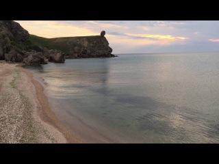 Бухта на генеральских, скала Нифертити, Азовское море 25 мая 2016.
