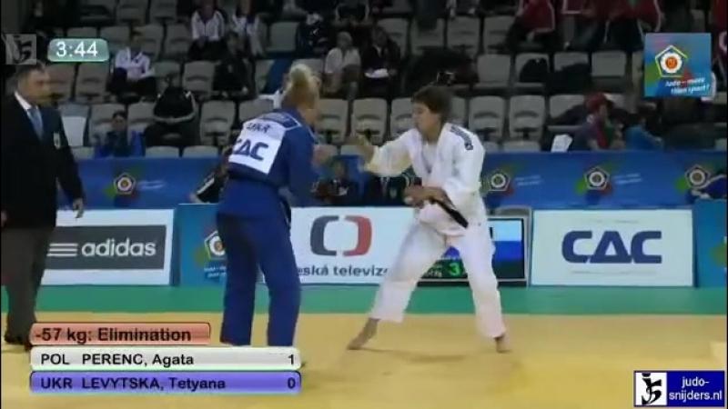 Judo 2012 European Championship U23 Prague׃ Perenc (POL) - Levytska (UKR) [-57kg]