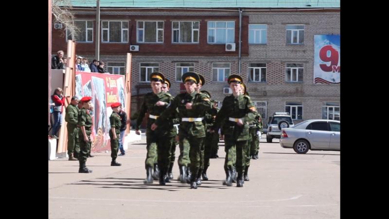 Смотр строя и песни среди ВПК Заиграевского района. Фрагмент 3.