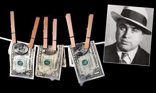 Фраза 'отмывать деньги' пошла от Аль КапонеТак как Аль Капоне трудно