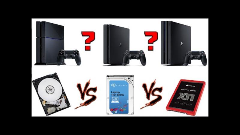 ВЫБОР И ЗАМЕНА ЖЕСТКОГО ДИСКА PS4 | HDD 5400 vs 7200 vs SSHD vs SSD | PS4 | PS4 Slim | PS4 Pro