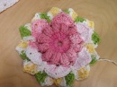 Crochet flower for a granny square baby blanket part 1- with Ruby Stedman