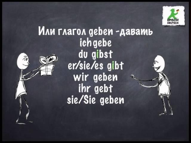 Deutsch A1 Немецкий язык. Спряжение глаголов. Настоящее время