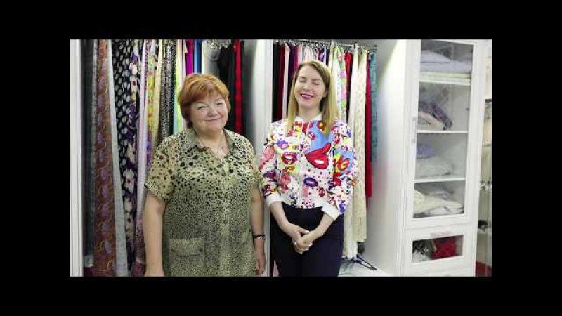 Встреча в модном доме с видеоблогером Аленой RobinaHoodina Как выбрать ткань для платья
