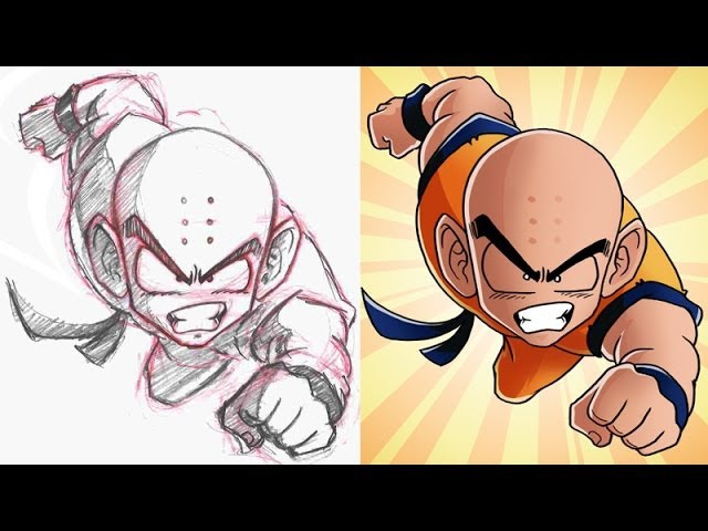 ошCel Shading in Photoshop (Feat. Krillin from DBZ!)