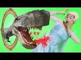 Эльза Замороженный Магия против T-Rex с зеркала! ж Человек-паук, Халк и джокер в ре ...