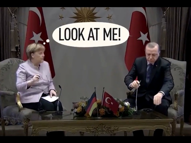 Erdogan Gets Angry at Merkel Dont You Dare to Put Islam Terror in One Sentence!