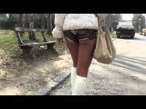 Julie Skyhigh: Hooker in GML designer patent leather stiletto boots (public flashing)