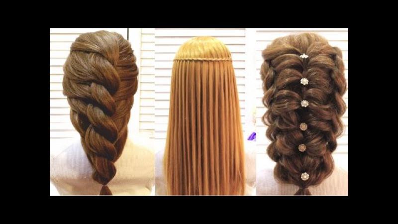Прически на выпускной на длинные волосы из косичек