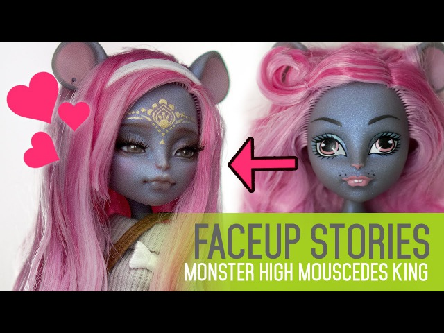 Repainting Dolls - MH Mouscedes King - Faceup Stories ep.41