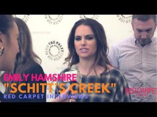 Emily Hampshire at PaleyLIVE's An Evening with Schitt's Creek SchittsCreek PaleyLive