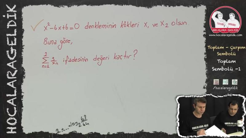 Toplam - Çarpım Sembolü Toplam Sembolü -1 - Matematik - HG