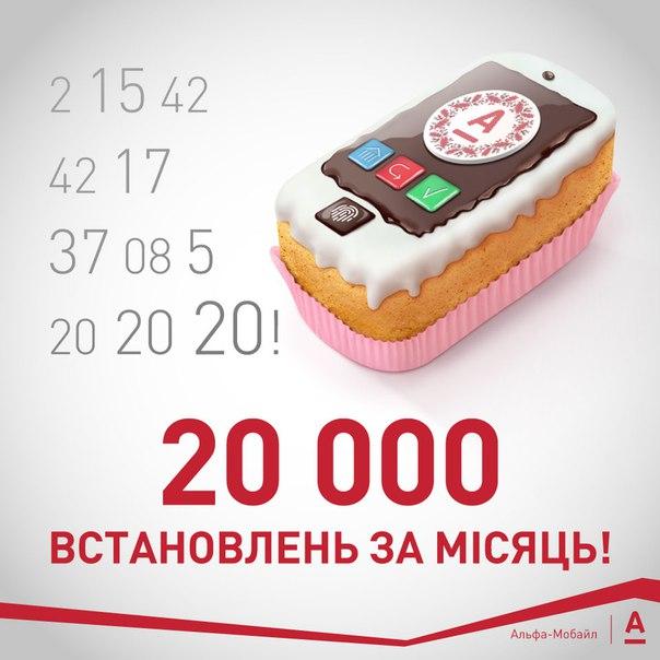 А нам вже 20 тисяч завантажень виповнилося 😉 Новоспечений мобільний б
