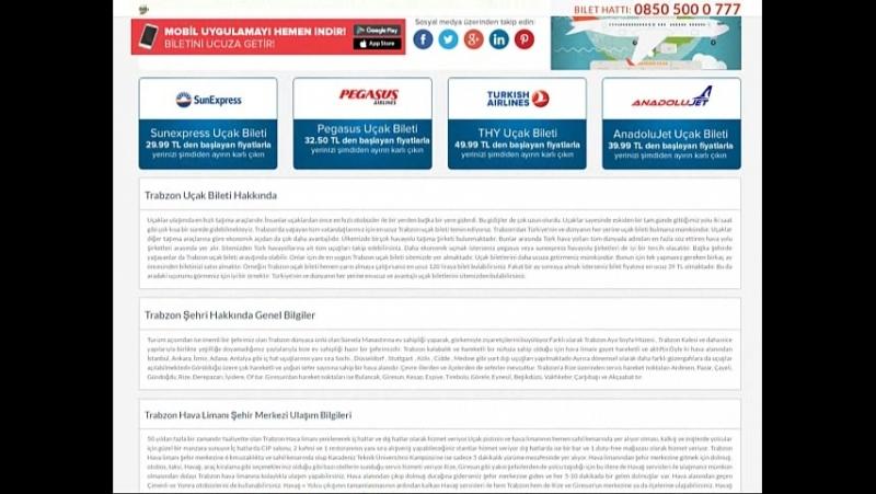 Trabzon uçak bileti - kolaybilethatti.com